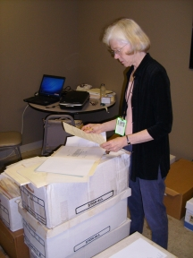 Peggy Reiff Miller researching seagoing cowboy history