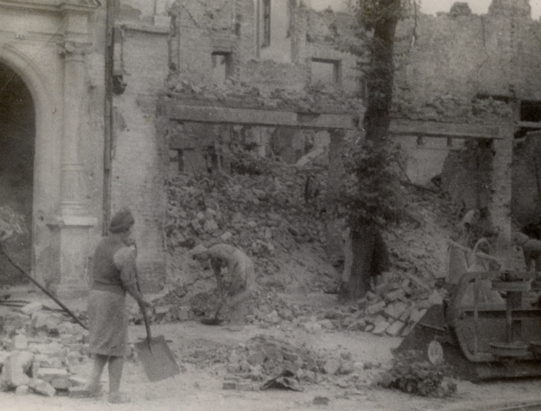 Cleaning up Gdansk, Poland, summer 1946.