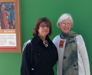 Jo Israelson and Peggy Reiff Miller at Heifer International, March 2014