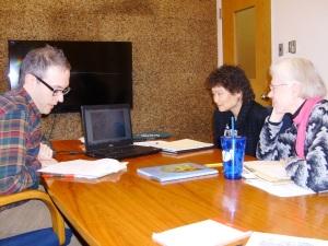 Marketing meeting with Brethren Press team