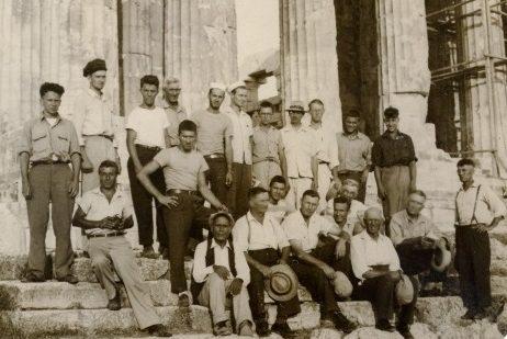 F. J. Luckenbach crew at the Acropolis.