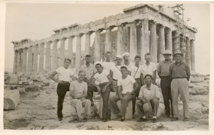 Virginian crew at the Acropolis.