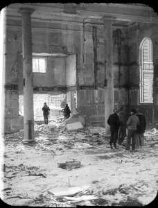 Many Mennonite seagoing cowboys visited the ruins of the abandoned Danzig Mennonite Church. Photo courtesy of Glen Nafziger.