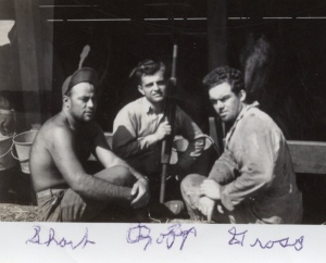 CPSers Lowell Short, Emil Ropp, and Alfred Gross at work on the S. S. Queens Victory to Poland, June 1946.