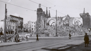 Ruins of Bremen, Germany, June 1946. Peggy Reiff Miller collection.