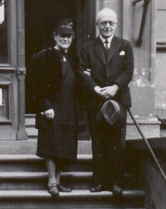 Pastor and Mrs. Erick Urban, Bremen, Germany, June 1946. Peggy Reiff Miller collection, courtesy of Ivan Meck and Guy Buch.