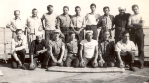 Half of the S. S. Stephen R. Mallory all-Mennonite crew.  Photo courtesy of Robert Ramseyer.