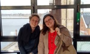 Melanie Mehring and Eliska Hegenscheidt-Nozdrovicka gave me a delightful tour around Düsseldorf on my arrival. Photo: Peggy Reiff Miller